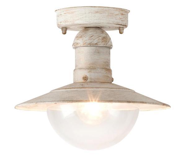 Oslo Außendeckenleuchte Vintage-Design Metall/Kunststoff antik weiß Außenleuchte Deckenlampe Außenla
