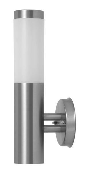 Inox torch Außenwandleuchte modern Metall/Kunststoff edelstahl/weiß Außenlampe Wandlampe E27 25W