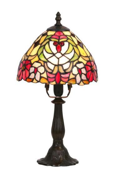 Tischlampe Glas antik bronze E14 Mirella