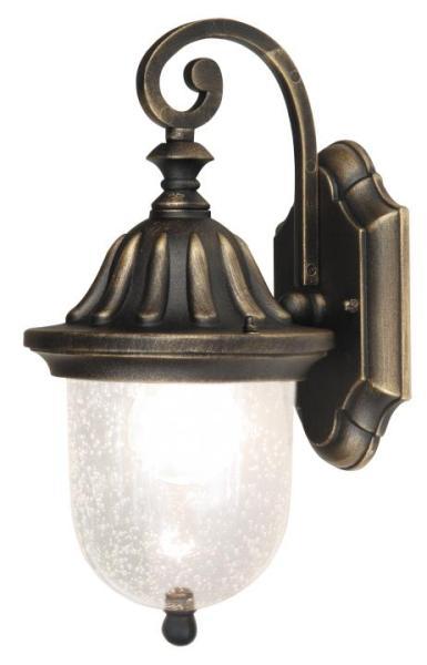Sydney Außenwandleuchte klassisch Metall/Glas antikgold Außenlampe Wandlampe E27 60W