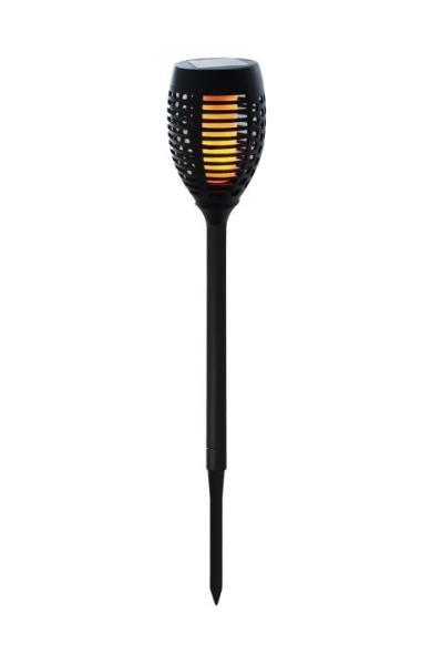 LED Solarfackel Schwarz 72,5 cm