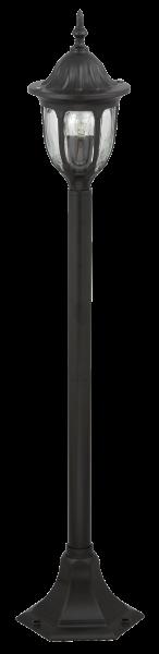 Milano Wegeleuchte klassisch Metall/Glas schwarz Außenleuchte Standleuchte Pollerleuchte E27 60W