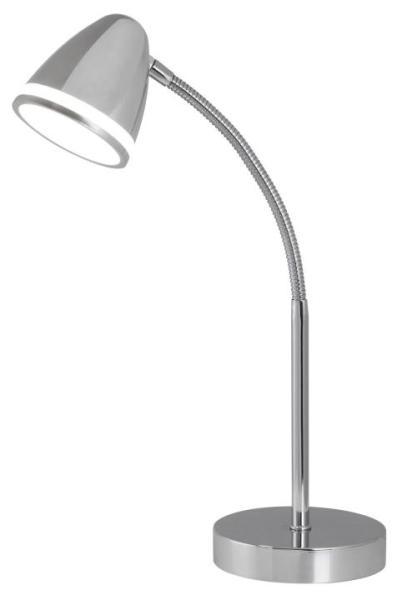 Tischlampe modern silber Metall LED-Board Martin