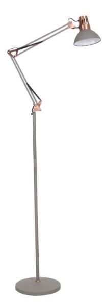 Stehlampe kupfer Gareth Industriedesign E27