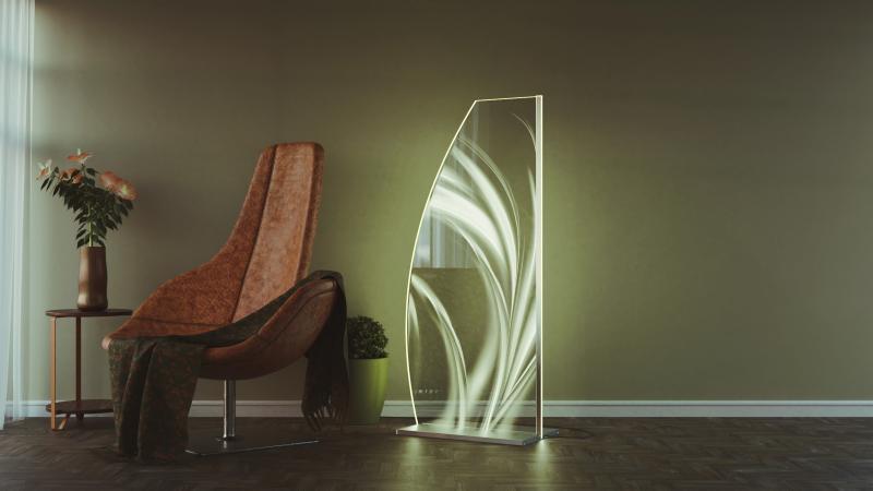 LED Designstehleuchte Waves