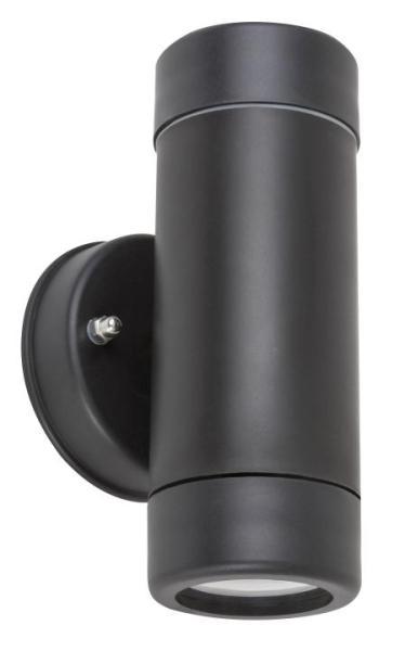 Außenwandleuchte MEDINA schwarz aus Kunststoff 2-flammig