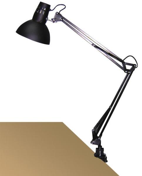 Schreibtischlampe schwarz Metall E27 klemmbar Arno