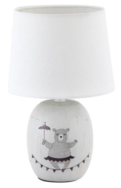 Tischlampe Keramik grau E14 Dorka