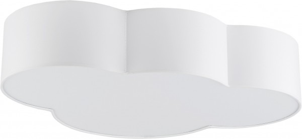 Stoff CLOUD Deckenlampe weiß 4-flammig E27