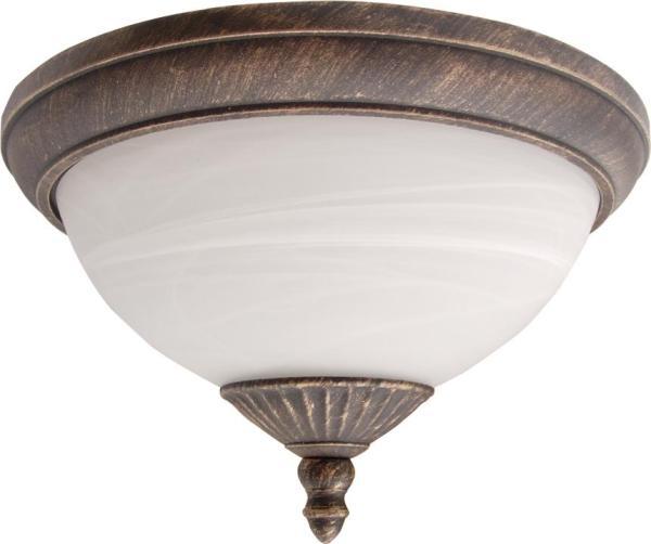 Madrid Außendeckenleuchte klassisch Metall/Glas antikgold/Alabasterglas Außenleuchte Deckenlampe Auß