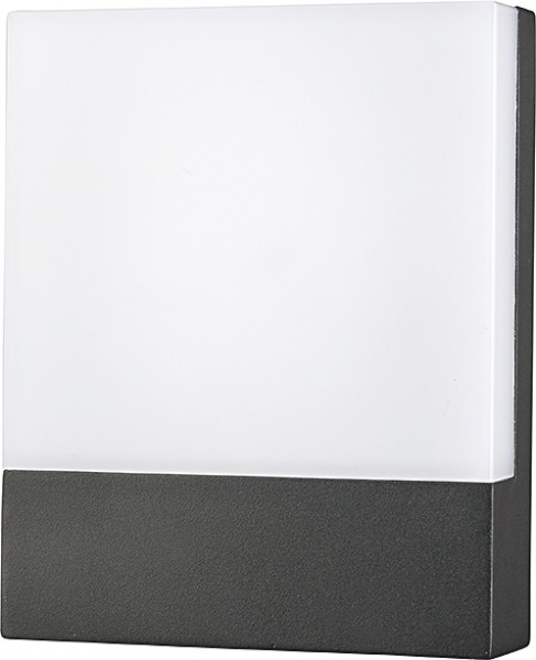 FLAT Außenwandleuchte modern Aluminium/Kunststoff grau Außenlampe Wandlampe LED-Board 12W