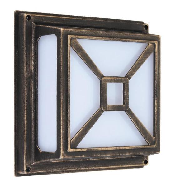 Darius Außendeckenleuchte klassisch Metall/Kunststoff antikgold Außenleuchte Deckenlampe Außenlampe