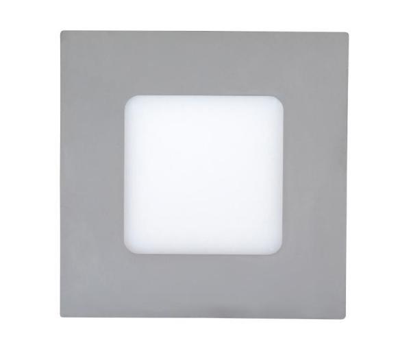 LED Einbauleuchte LOIS in chrom naturalweiß quadratisch 90mm