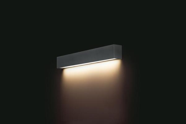 LED Wandleuchte anthrazit 10W 3000K 900lm