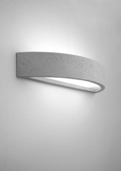 Wandleuchte modern grau aus Glas Arch
