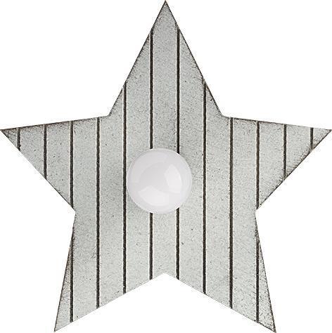 Kinderzimmerlampe grau aus Holz mit Sternen