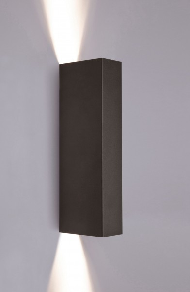 Wandleuchte schwarz aus Metall MALMO GU10
