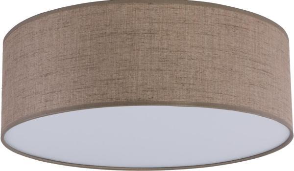 Deckenleuchte RONDO hellbraun/braun aus Stoff/Metall/PVC Ø380mm