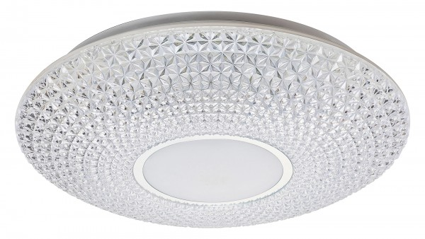 LED Deckenleuchte transparent/weiss/chrom LED-Board 72W A 3000-6500K 5728lm IP20
