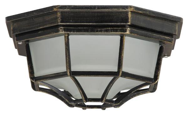 Milano Außendeckenleuchte klassisch Metall/Glas antikgold Außenleuchte Deckenlampe Außenlampe E27 10