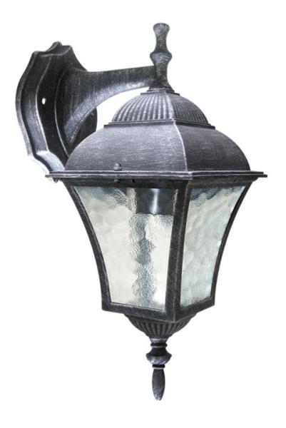 Toscana Außenwandleuchte klassisch Metall/Glas antiksilber Außenlampe Wandlampe E27 60W
