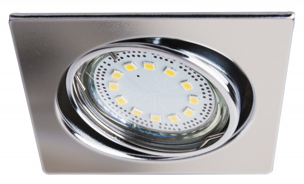 LED Einbaustrahler Set warmweiß GU10 eckig chrom beweglich